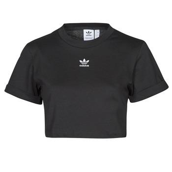 衣服 女士 短袖体恤 Adidas Originals 阿迪达斯三叶草 TEE 黑色