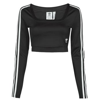 衣服 女士 长袖T恤 Adidas Originals 阿迪达斯三叶草 LONG SLEEVE 黑色