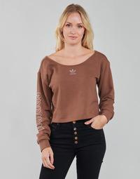 衣服 女士 卫衣 Adidas Originals 阿迪达斯三叶草 SLOUCHY CREW? 棕色