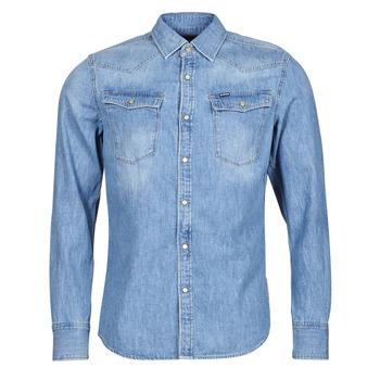 衣服 男士 长袖衬衫 G-Star Raw 3301 SLIM SHIRT LS 蓝色