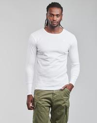 衣服 男士 长袖T恤 G-Star Raw BASE R T LS 1-PACK 白色