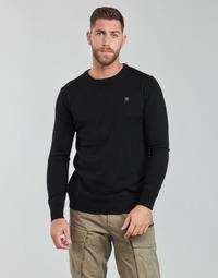 衣服 男士 羊毛衫 G-Star Raw PREMIUM BASIC KNIT R LS 黑色
