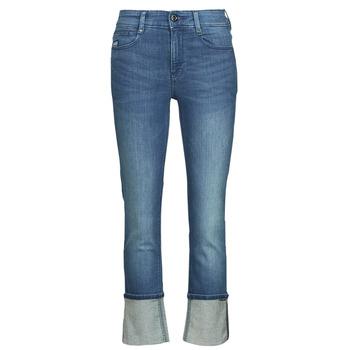 衣服 女士 直筒牛仔裤 G-Star Raw NOXER STRAIGHT 蓝色