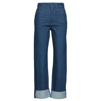 衣服 女士 直筒牛仔裤 G-Star Raw TEDIE ULTRA HIGH STRAIGHT 蓝色