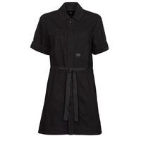 衣服 女士 短裙 G-Star Raw ARMY DRESS SHORT SLEEVE 黑色
