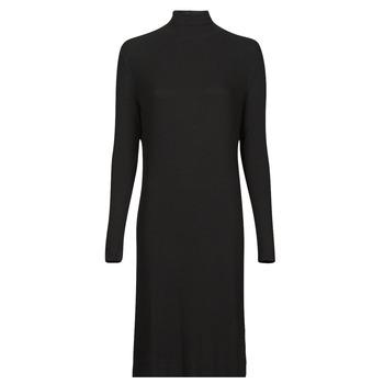衣服 女士 长裙 G-Star Raw RIB MOCK SLIM DRESS 黑色