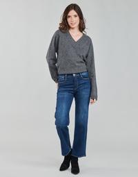 衣服 女士 直筒牛仔裤 Le Temps des Cerises PULP HIGH WAIST 蓝色