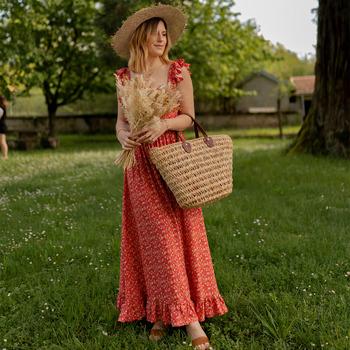 衣服 女士 长裙 Céleste AURORE version courte 红色