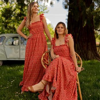 衣服 女士 长裙 Céleste AURORE 红色