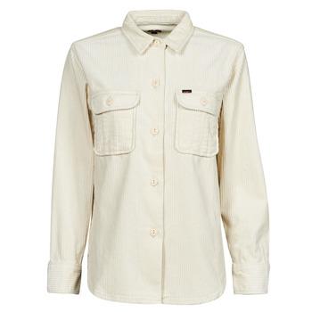 衣服 女士 外套/薄款西服 Lee OVERSHIRT 白色