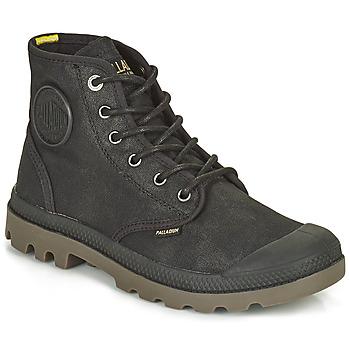 鞋子 短筒靴 Palladium 帕拉丁 PAMPA CANVAS 黑色