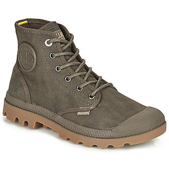 鞋子 短筒靴 Palladium 帕拉丁 PAMPA CANVAS 棕色