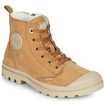 鞋子 女士 短筒靴 Palladium 帕拉丁 PAMPA HI ZIP WL W 棕色