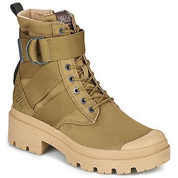 鞋子 女士 短筒靴 Palladium 帕拉丁 PALLABASE TACT S TX 绿色