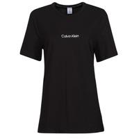 衣服 女士 短袖体恤 Calvin Klein Jeans SS CREW NECK 黑色