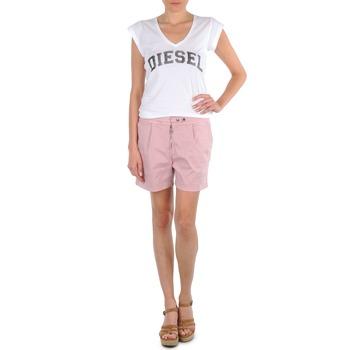 衣服 女士 短裤&百慕大短裤 Diesel 迪赛尔 HANTU 玫瑰色