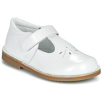 鞋子 女孩 平底鞋 Citrouille et Compagnie OTALI 白色 / 漆皮