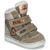 鞋子 女孩 短筒靴 Citrouille et Compagnie PALADIN 灰褐色 / 玫瑰色