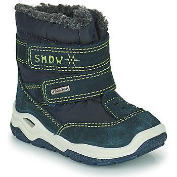 鞋子 男孩 雪地靴 Citrouille et Compagnie POUDOU 蓝色 / 绿色
