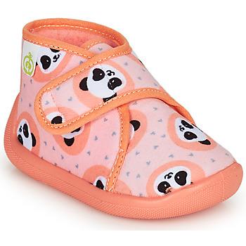 鞋子 女孩 拖鞋 Citrouille et Compagnie PASTACARBO Saumon