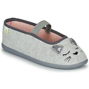 鞋子 女孩 拖鞋 Citrouille et Compagnie PASTALDENTE 灰色 / 玫瑰色