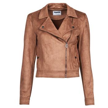 衣服 女士 皮夹克/ 人造皮革夹克 Noisy May NMROCKY 棕色