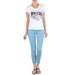 衣服 女士 七分裤 Diesel 迪赛尔 LIVIER-ANKLE 蓝色