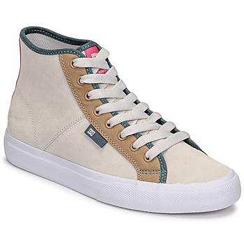 鞋子 女士 高帮鞋 DC Shoes MANUAL HI SE 米色
