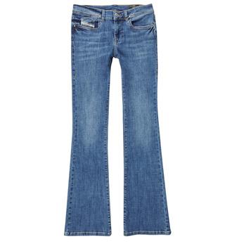 衣服 女孩 喇叭牛仔裤 Diesel 迪赛尔 LOWLEEH 蓝色