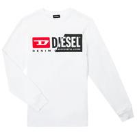 衣服 儿童 长袖T恤 Diesel 迪赛尔 TDIEGOCUTY ML 白色