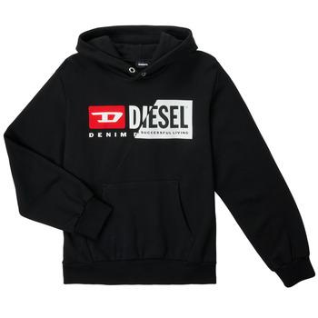 衣服 儿童 卫衣 Diesel 迪赛尔 SGIRKHOODCUTYX OVER 黑色