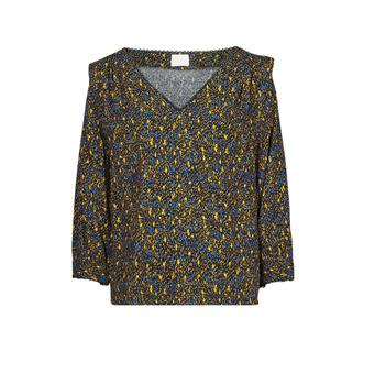 衣服 女士 女士上衣/罩衫 Vila VIZUGI 黑色 / 黄色 / 蓝色