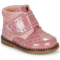 鞋子 女孩 短筒靴 Citrouille et Compagnie PROYAL 玫瑰色 / 漆皮