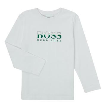 衣服 男孩 长袖T恤 BOSS SOPELAS 白色