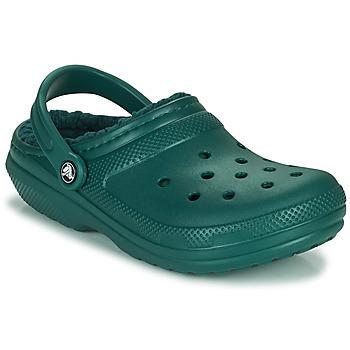 鞋子 洞洞鞋/圆头拖鞋 crocs 卡骆驰 CLASSIC LINED CLOG 绿色