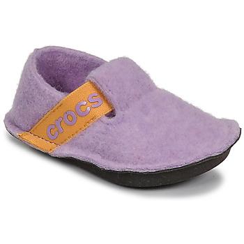 鞋子 女孩 拖鞋 crocs 卡骆驰 CLASSIC SLIPPER K 紫罗兰 / 黄色