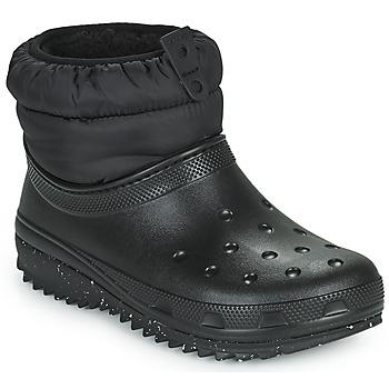 鞋子 女士 雪地靴 crocs 卡骆驰 CLASSIC NEO PUFF SHORTY BOOT W 黑色