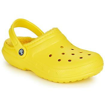 鞋子 洞洞鞋/圆头拖鞋 crocs 卡骆驰 CLASSIC LINED CLOG 黄色