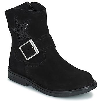 鞋子 女孩 短筒靴 Citrouille et Compagnie POUDRE 黑色
