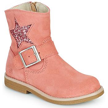 鞋子 女孩 短筒靴 Citrouille et Compagnie POUDRE 玫瑰色