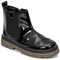 鞋子 女孩 短筒靴 Citrouille et Compagnie PATATA 黑色 / 漆皮