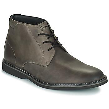 鞋子 男士 短筒靴 Clarks 其乐 ATTICUSLT MID 灰色