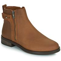 鞋子 女士 短筒靴 Clarks 其乐 MEMI LO 驼色