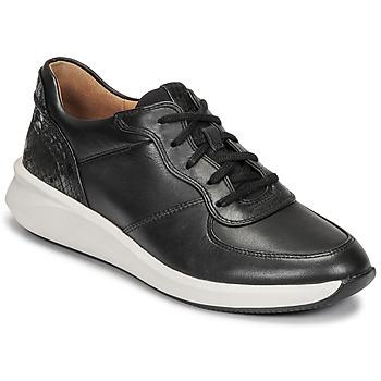 鞋子 女士 球鞋基本款 Clarks 其乐 UN RIO SPRINT 黑色
