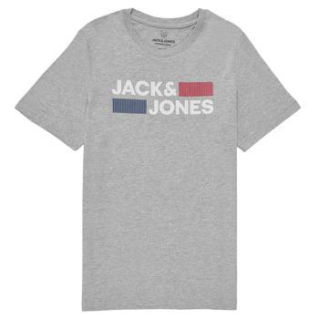 衣服 男孩 短袖体恤 Jack & Jones 杰克琼斯 JJECORP LOGO TEE SS 灰色
