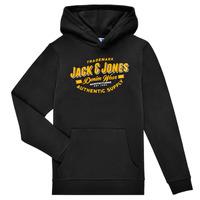 衣服 男孩 卫衣 Jack & Jones 杰克琼斯 JJELOGO SWEAT HOOD 黑色