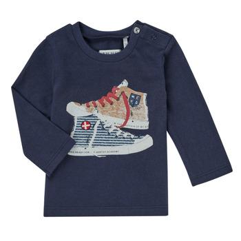 衣服 男孩 长袖T恤 Ikks AURORE 海蓝色