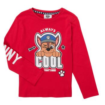 衣服 男孩 长袖T恤 TEAM HEROES KIDS TEE PAW PATROL 红色