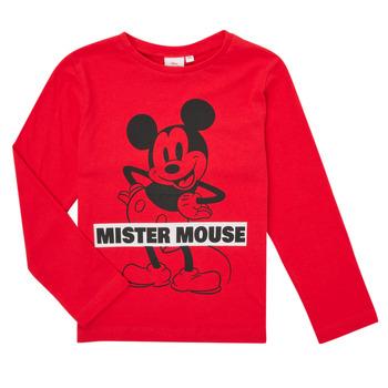 衣服 男孩 长袖T恤 TEAM HEROES KIDS TEE MICKEY 红色