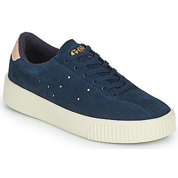 鞋子 女士 球鞋基本款 Gola SUPER COURT SUEDE 海蓝色 / 玫瑰色